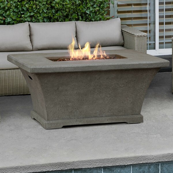 Monaco Concrete Propane Fire Pit Table by Real Flame