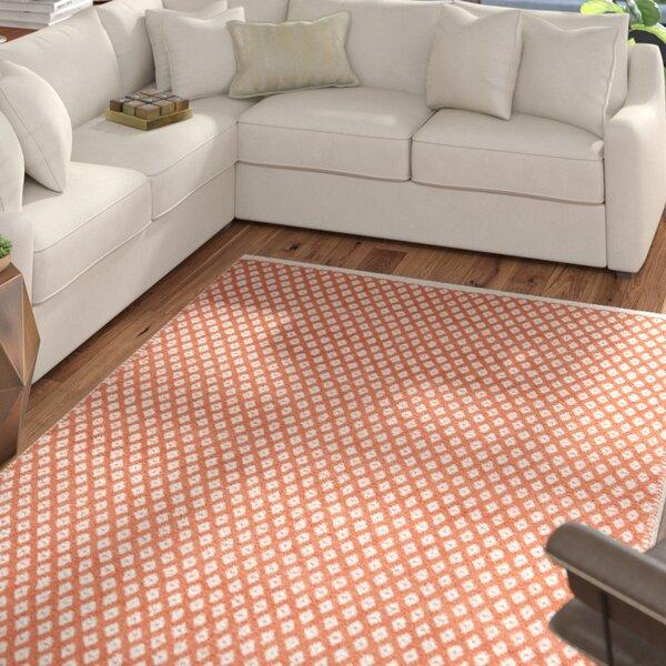 Polk Hand Tufted Orange Area Rug by Zipcode Design