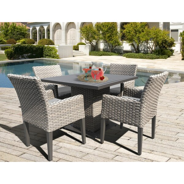 Meeks 5 Piece Dining Set With Cushions By Rosecliff Heights