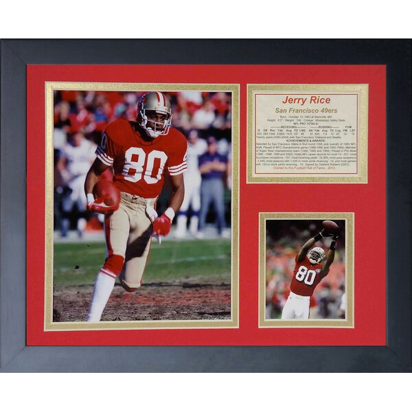 Jerry Rice Framed Memorabilia by Legends Never Die