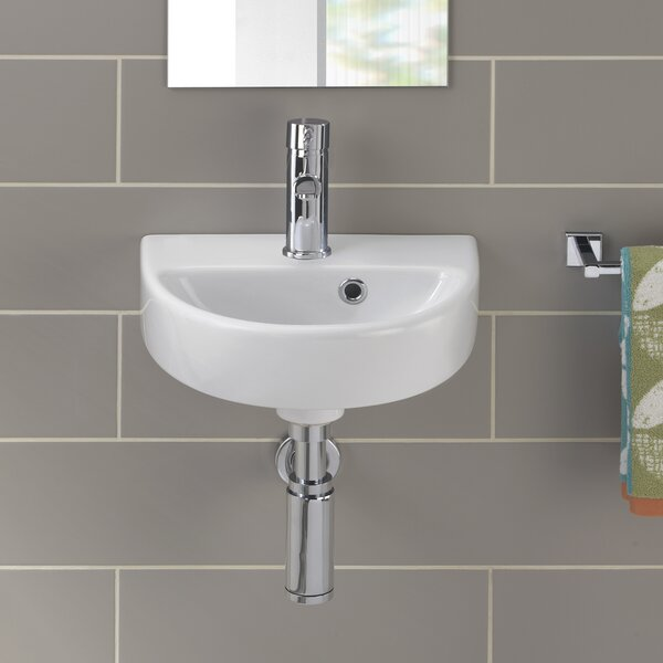 Twins Vitreous China 15 Wall Mount Bathroom Sink with Overflow by Bissonnet