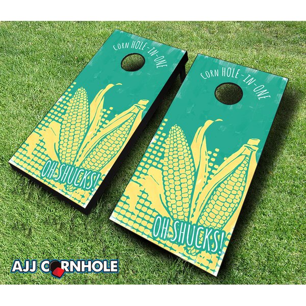 Oh Shucks! Cornhole Set by AJJ Cornhole
