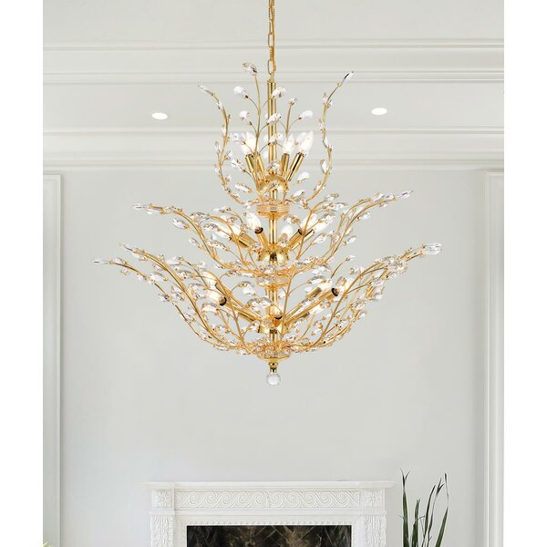 Lamons 18 - Light Unique / Statement Tiered Chandelier By House Of Hampton