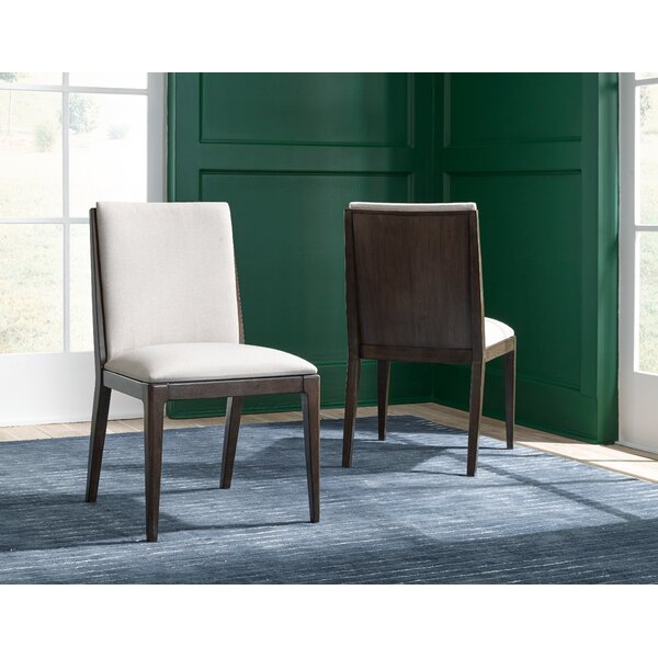 Sallie Upholstered Solid Back Side Chair in Sable/Ivory (Set of 2) by Brayden Studio Brayden Studio