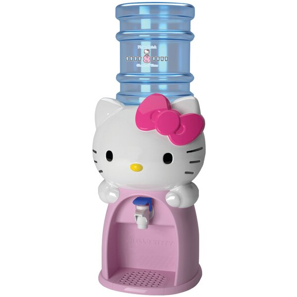 Countertop Room Temperature and Cold Electric Water Cooler by Hello Kitty