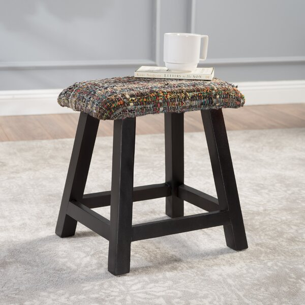 Mahfouz Modern Fabric and Wood Vanity Bench by Bungalow Rose