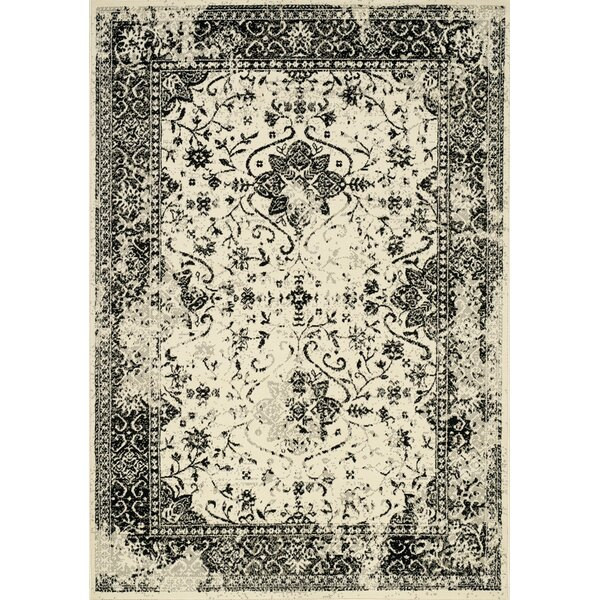Kavia Black/Cream Area Rug by Bungalow Rose