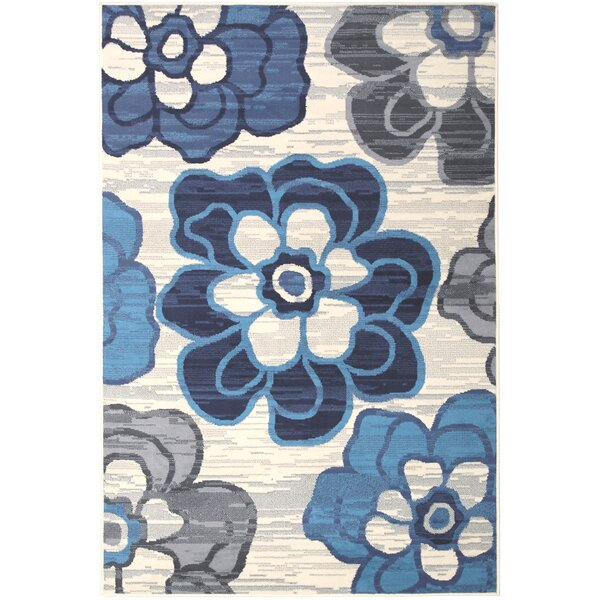 Bonner Gray/Blue Area Rug by Ebern Designs