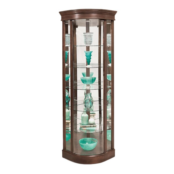 Auberge Lighted Corner Curio Cabinet by Philip Reinisch Co.