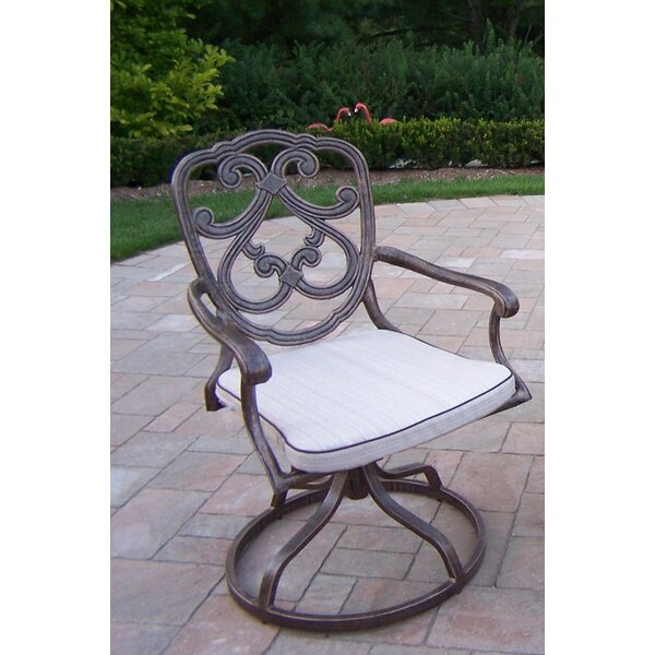 Pacifica Swivel Patio Dining Chair with Cushion by Oakland Living