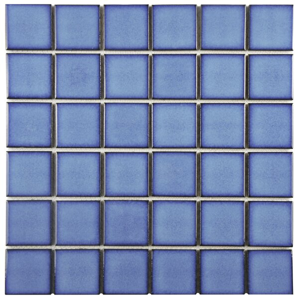 Watrerfall 2 x 2 Porcelain Mosaic Tile in Cerulean by EliteTile