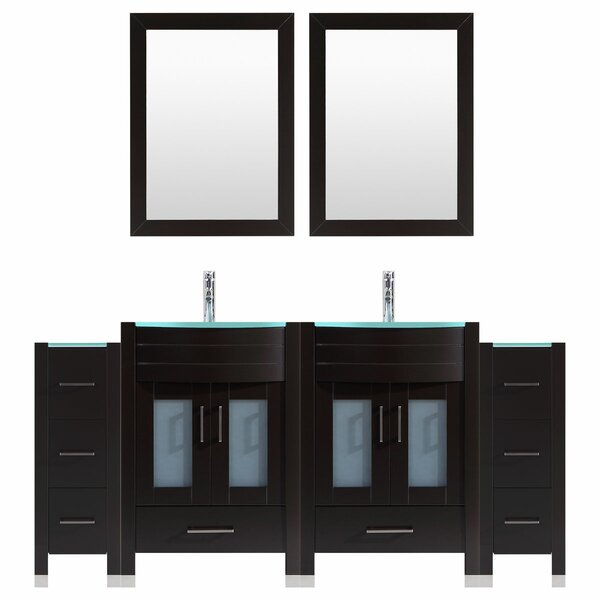 Marguez 96 Double Bathroom Vanity Set with Mirror