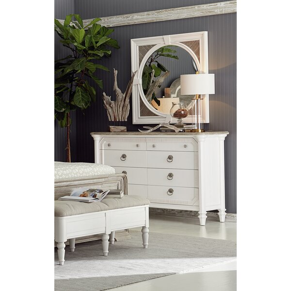 8 Drawer Double Dresser with Mirror by Dowton Abbey