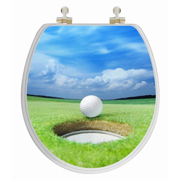 3D Series Golf Round Toilet Seat by Topseat