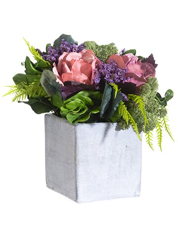 Preserved Floral Arrangement in Planter by House of Hampton