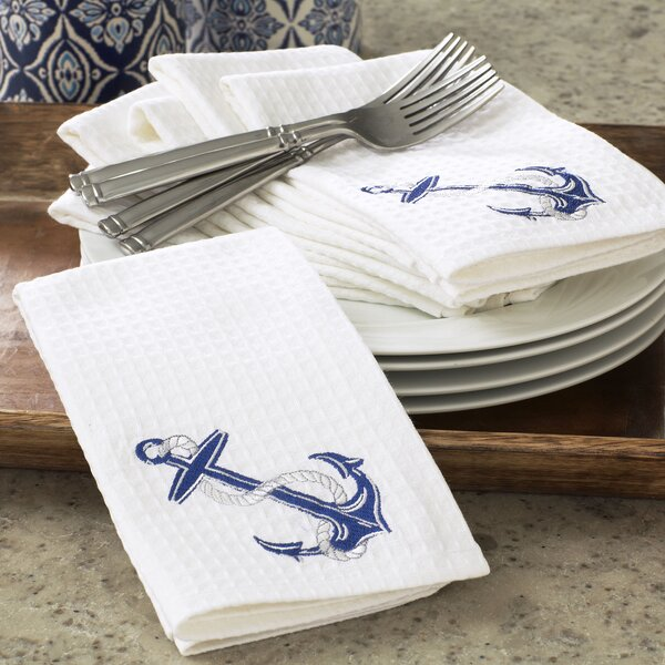 Anchor Waffle Weave Napkins (Set of 6) by Birch Lane™