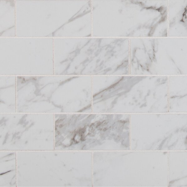 Pietra 2 x 4 Porcelain Mosaic Tile in Carrara by MSI
