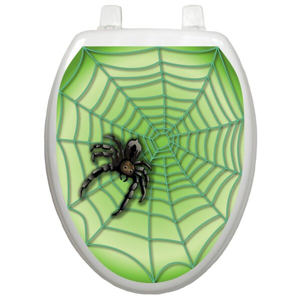 Seasonal Spider Web Toilet Seat Decal by Toilet Tattoos