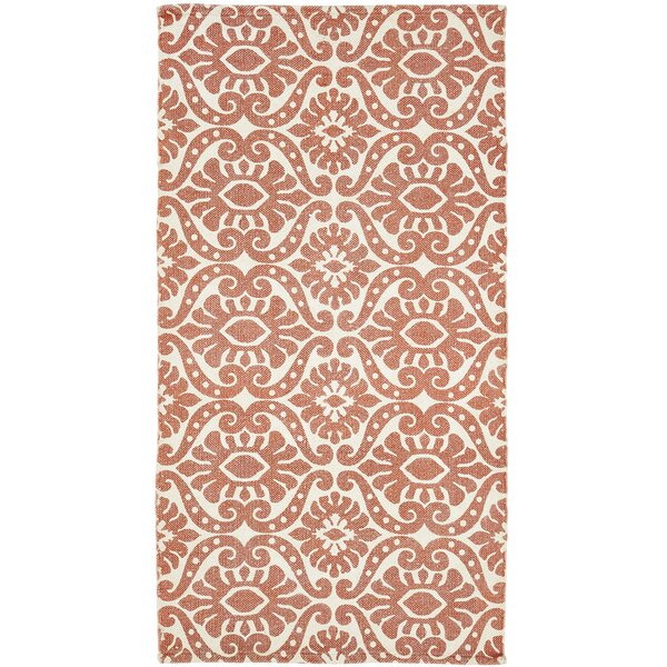 Armagh Orange Area Rug by Bungalow Rose