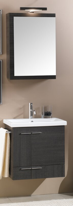 "iottinameeks simple 23"" single wall mounted bathroom vanity"
