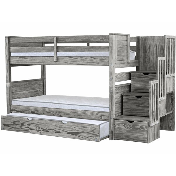 Flitwick Twin over Twin Bunk Bed with Trundle and Drawers by Harriet Bee