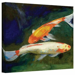 'Feng Shui Koi Fish' Gallery Painting Print on Wrapped Canvas by World Menagerie