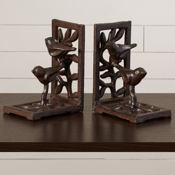 Cast Iron with Bird Bookends by August Grove