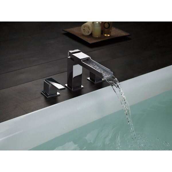 Ara Double Handle Deck Mounted Roman Tub Faucet Trim By Delta