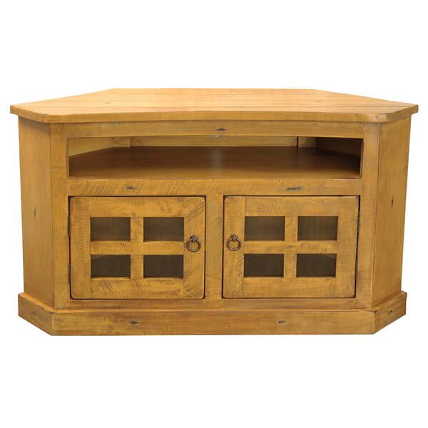 Lonan Solid Wood Corner TV Stand For TVs Up To 55