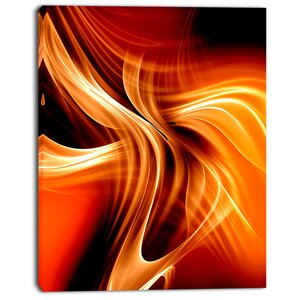 'Orange Abstract Warm Fractal Design' Graphic Art on Wrapped Canvas by Design Art