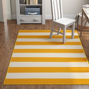 Alta Hand-Woven Yellow/White Area Rug by Grovelane Teen