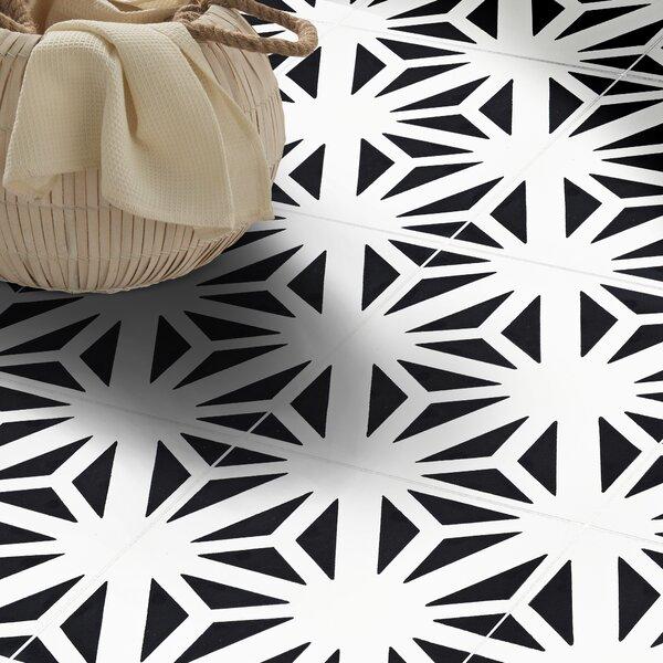 Azemour Handmade 8 x 8 Cement Field Tile