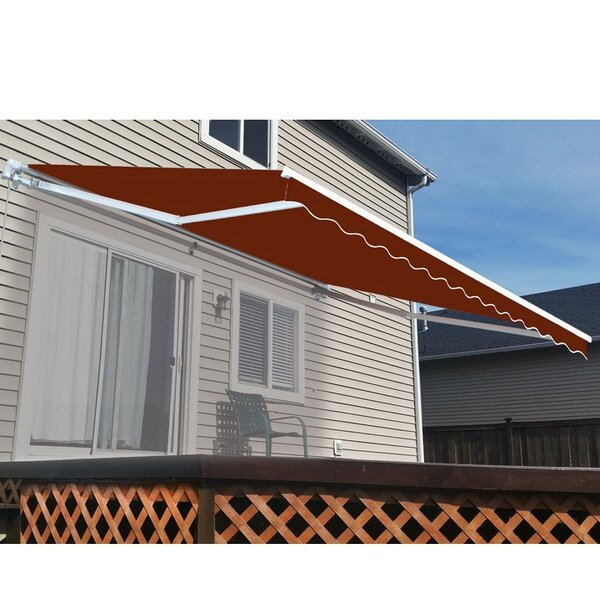 12 ft. W x 8 ft. D Retractable Patio Awning by ALEKO