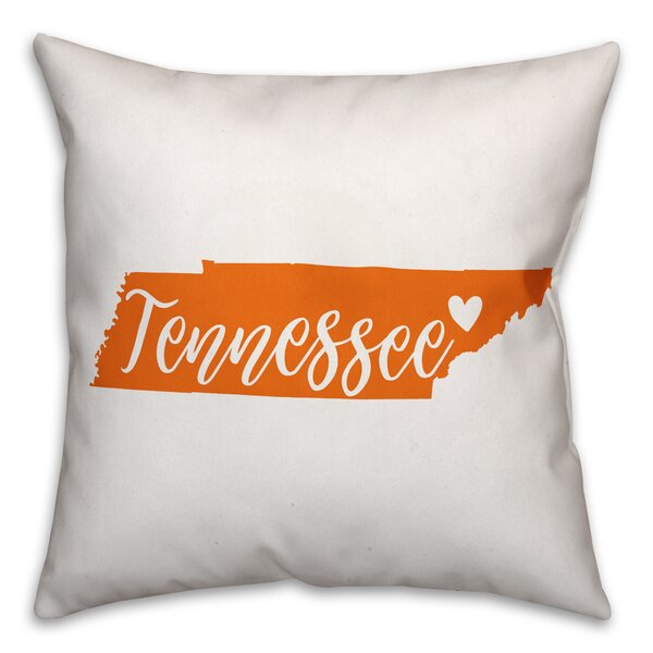 Tennessee Pride Throw Pillow by East Urban Home