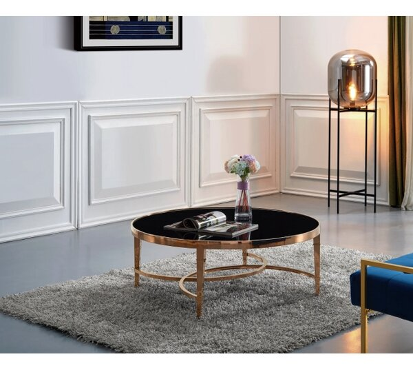 Rachal Cross Legs Coffee Table With Storage By Everly Quinn