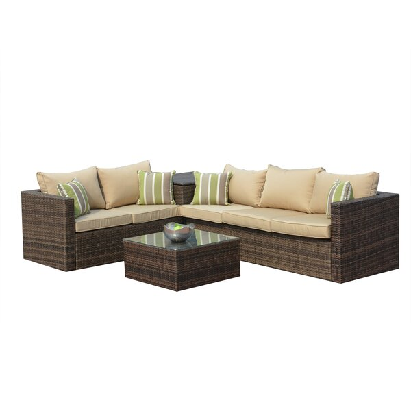 Taounate 3 Piece Sofa Seating Group with Cushions (Set of 4) by Charlton Home