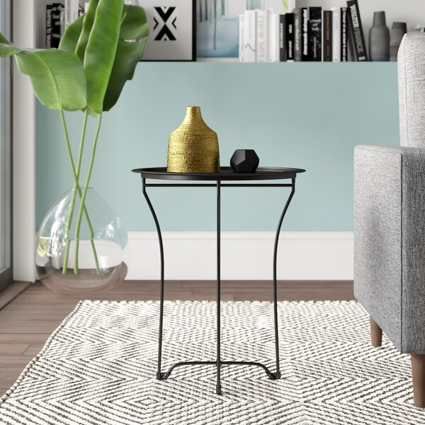 Mcalpin Tray Top Cross Legs End Table By Mercury Row