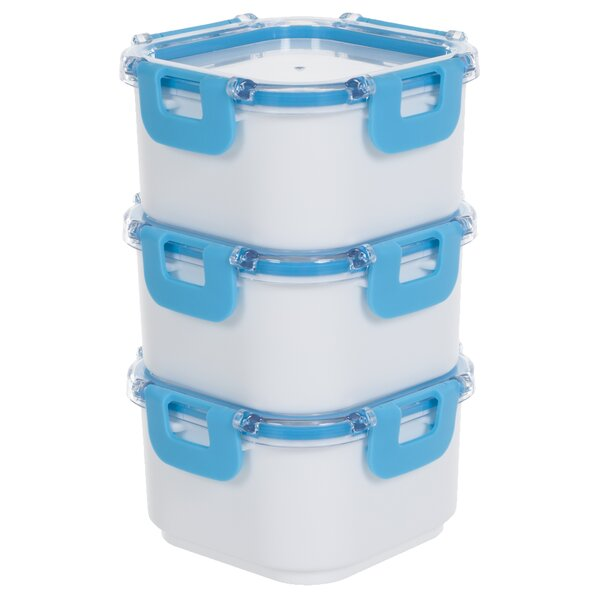 Portable 4 Container Food Storage Set by Classic Cuisine