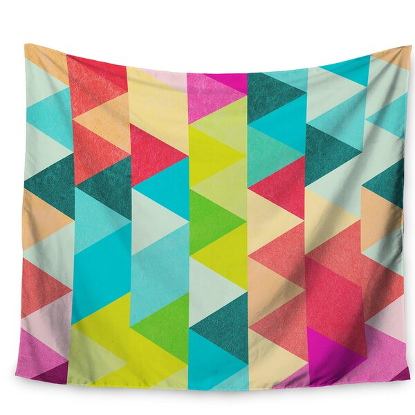 Tobe Fonseca Bubblegum Triangles Pattern Tapestry and Wall Hanging by East Urban Home