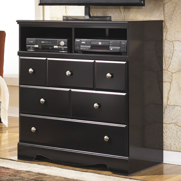 Patio Furniture Chittum 3 Drawer Media Chest