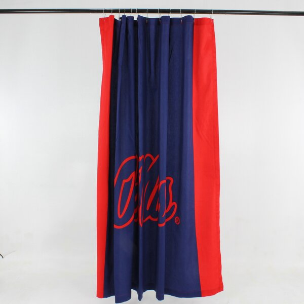 NCAA Cotton Shower Curtain by College Covers