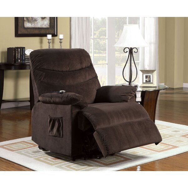 Clarimond Fabric Upholstered Metal Lift Power Recliner