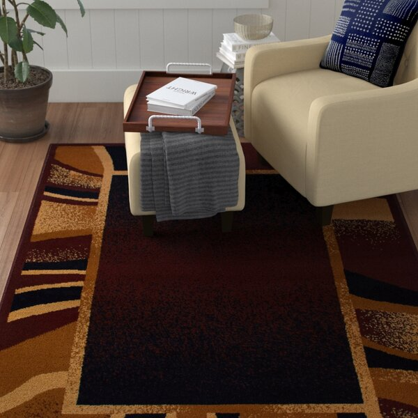 Bear Brown/Black Area Rug by Ebern Designs
