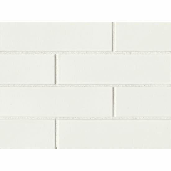 Reverie 2.5 x 9 Porcelain Subway Tile in White by Grayson Martin