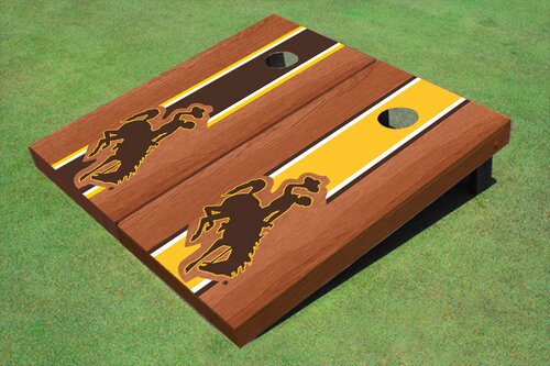 NCAA 10 Piece University Of Wyoming Cowboys Long Stripe Cornhole Board Set by All American Tailgate