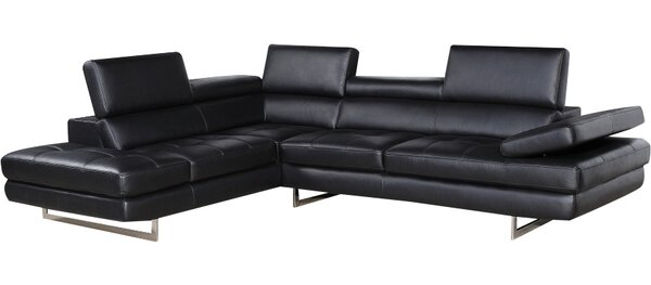 Lucchesi Left Hand Facing Leather Sectional by Orren Ellis