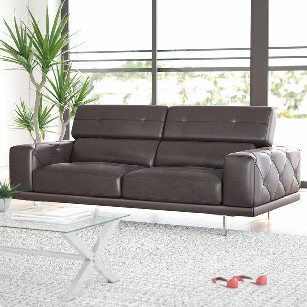 Belmar Leather Sofa By Wade Logan
