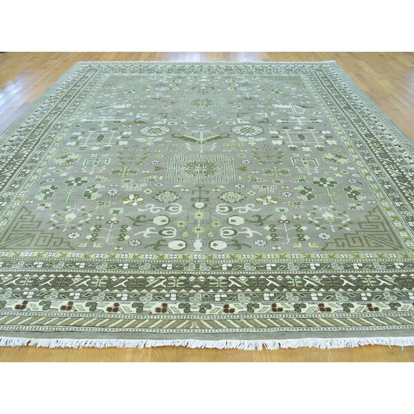 One-of-a-Kind Beauchemin Design Hand-Knotted Grey Wool Area Rug by Isabelline