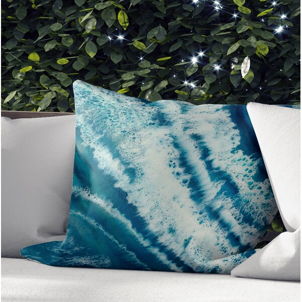 Heckstall Waves Outdoor Square Pillow Cover and Insert