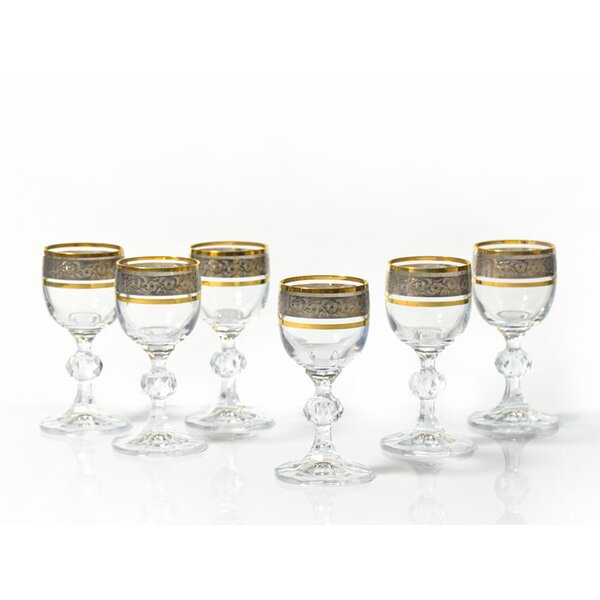 Leech 1.7 oz. Crystal Liqueur Glass (Set of 6) by Astoria Grand